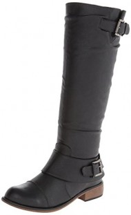 Dirty Laundry Women's City Slicker Smoo Riding Boot,Black,6 M US