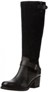 Clarks Women's Mojita Crush Boot,Black Leather,10 M US