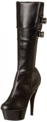Pleaser Women's Kiss-2007 Knee-High Boot,Black,10 M US