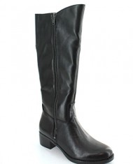 Franco Sarto Christina Womens Size 6 Black Leather Fashion Mid-Calf Boots UK 4