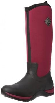 MuckBoots Women's Arctic Adventure Boot,Black/Maroon,8 M US