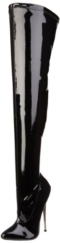 Pleaser Women's Dagger-3000 Boot,Black Patent,10 M US