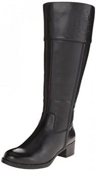 Franco Sarto Women's Canyon Wide Calf Riding Boot, Black, 6 M US