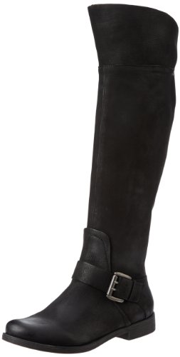 Kenneth Cole REACTION Women's Good Gurrl Boot,Black Leather,5 M US