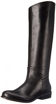 Corso Como Women's Geneva Riding Boot, Black Brushed Leather, 9 M US