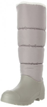 Dirty Laundry Women's Paz Nylon Rain Boot, Grey/White, 8 M US