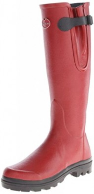 Le Chameau Women's LD Vierzon Rubber Boot,Carmine Red,8 M US