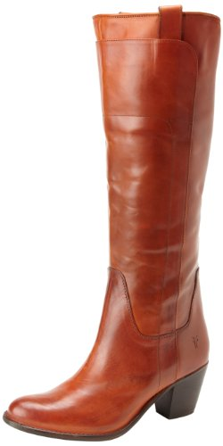FRYE Women's Jackie Tall Riding Boot, Burnt Red, 8.5 M US