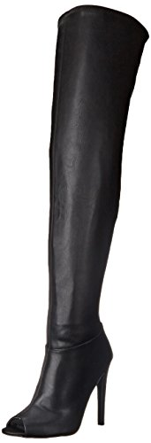 Qupid Women's Interest 118 Slouch Boot, Black, 8 M US