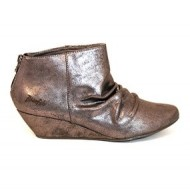 Blowfish Women's Luminate Wedge Bootie Pewter Metallic 6.5 M US
