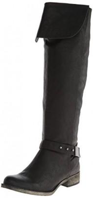 Rocket Dog Women's Cowellhy Motorcycle Boot, Black, 7.5 M US