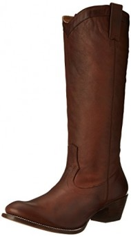 Stetson Women's 15 Inch Burnished Ficcini Riding Boot, Brown, 11 B US