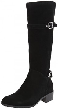 Cole Haan Women's Indiana Tall Waterproof Riding Boot,Black Suede Waterproof,8 B US