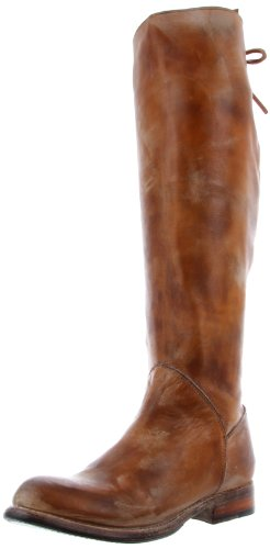 Bed Stu Women's Manchester Knee-High Boot, Tan Rustic/White, 7.5 M US