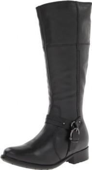 Clarks Women's Black Leather Plaza Pug 8.5 B(M) US