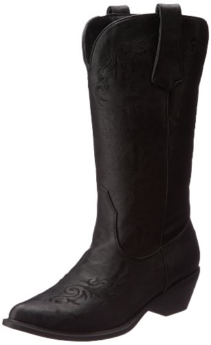 Roper Women's Scrolls and Vines Western Boot,Black,8.5 M US