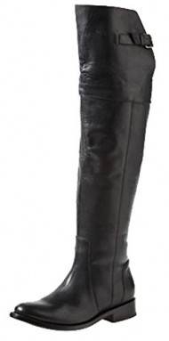 DV by Dolce Vita Leroux Over the Knee Leather Riding Boot,8 B(M) US,Black Leather