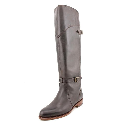 FRYE Women's Dorado Buckle Riding Boot, Dark Brown Full Grain, 9.5 M US