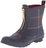 Tommy Hilfiger Women's Ryann2 Rain Boot, Blue Plaid, 10 M US