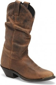 Double-H Boots Women's DH5252 Slouch Boot Tan Crazy Horse 11 M US