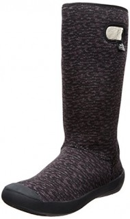 Bogs Women's Summit Knit Waterproof Boot,Black/Grey,11 M US