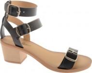Lucky Women's Iness Dress Sandal,Black/Natural,6.5 M US