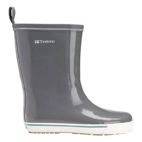 Tretorn Women's Skerry Vinter Shiny Rain Boot,Charcoal Grey,40 EU/(US Women's 9 B)