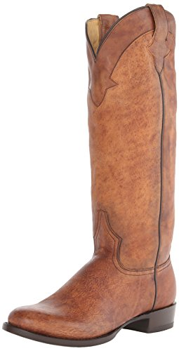 Stetson Women's Round Toe Riding Boot Brown Boot 8 B – Medium