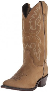 Justin Boots Women's U.S.A. Classic Western 12″ Boot Medium Round Toe Leather Outsole,Bay Apache,8 C US