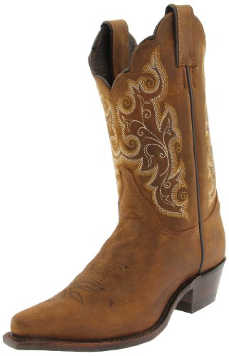 Justin Boots Women's U.S.A. Classic Western 10″ Boot Narrow Square Toe Leather Outsole,Bay Apache,8 C US