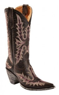 Old Gringo Women's Sharon Stitched Cowgirl Boot Pointed Toe Chocolate 11 M US