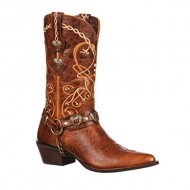 Durango Women's Crush 11-Inch Heart Concho Brown 6 M US