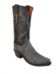 1883 by Lucchese Women's N4077-S54 Leather Boots,Charcoal Lizard,9 B US