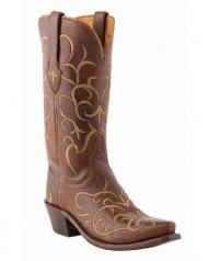 Lucchese Women's 1883 Fancy Stitched Cowgirl Boot Snip Toe Tan US