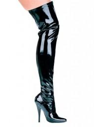 ELLIE 511-ALLY 5″ Heel Thigh High Stretch Boot , White, 7 Size