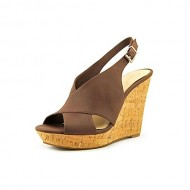 Jessica Simpson Women's Colavita Wedge Sandal,Brown Elko Nubuck,8.5 M US