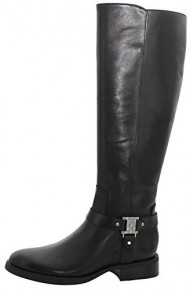 Vince Camuto Farren Women's Leather Riding Boots Black Size 9.5