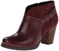 Clarks Women's Mission Parker Chelsea Boot,Burgundy,8 M US