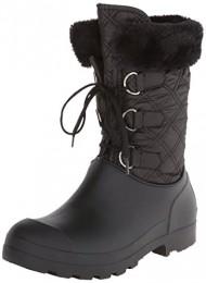 Dirty Laundry Women's Parade Nylon Rain Boot, Black, 8 M US