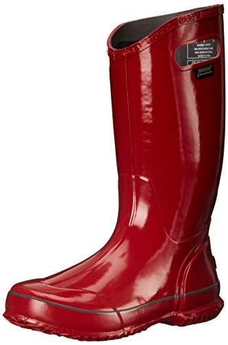Bogs Women's Solid Rain Boot, Red, 7 M US