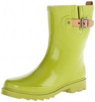 Chooka Women's Top Solid Mid Rain Boot, Chartreuse, 9 M US