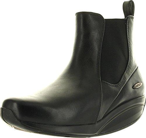MBT Women's Kisiwa Chelsea Double Gore Short Boot,Black,40 EU (US Women's 9-9.5 M)