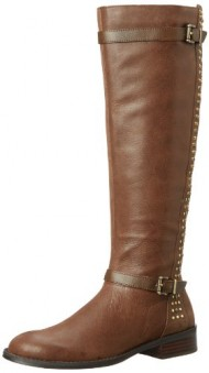 Jessica Simpson Women's JS-Ellister Harness Boot,Brown,10 M US