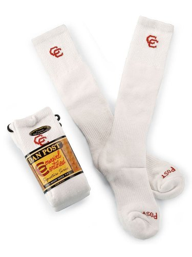 Dan Post Women's Cowgirl Certified Boot Socks (2-Pack) White 9
