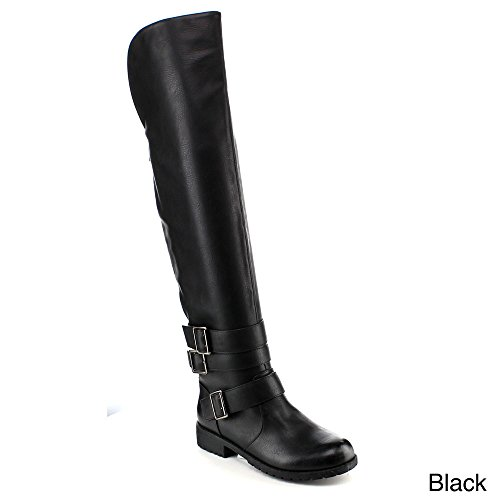 YOKI SAKI-10 Women's Hot Fashion Over The Knee High Comfort Riding Boots, Color:BLACK, Size:8
