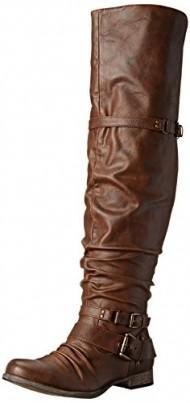 Carlos by Carlos Santana Women's Whitney Motorcycle Boot,Cognac,7 M US