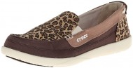 crocs Women's 16214 Flat,Espresso/Gold,8 M US