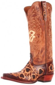 Tony Lama Women's Hearts 1021l Boot,Cognac/Natural,9.5 B US