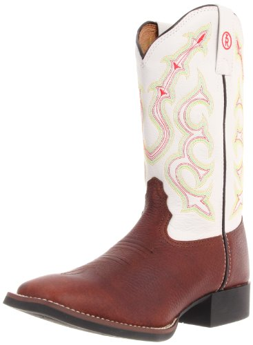 Tony Lama Boots Women's Beige Mustang RR2111L Boot,Beige Mustang/White Baron Calf,8 B US