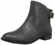 BC Footwear Women's Building Blocks Metallic Ankle Boot,Black,6.5 M US